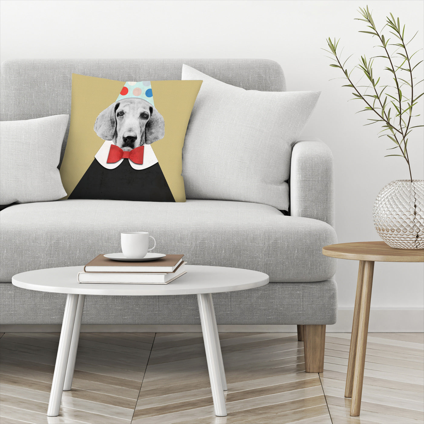 Doggy Pooh The Clown by Emanuela Carratoni Decorative Pillow - Decorative Pillow - Americanflat