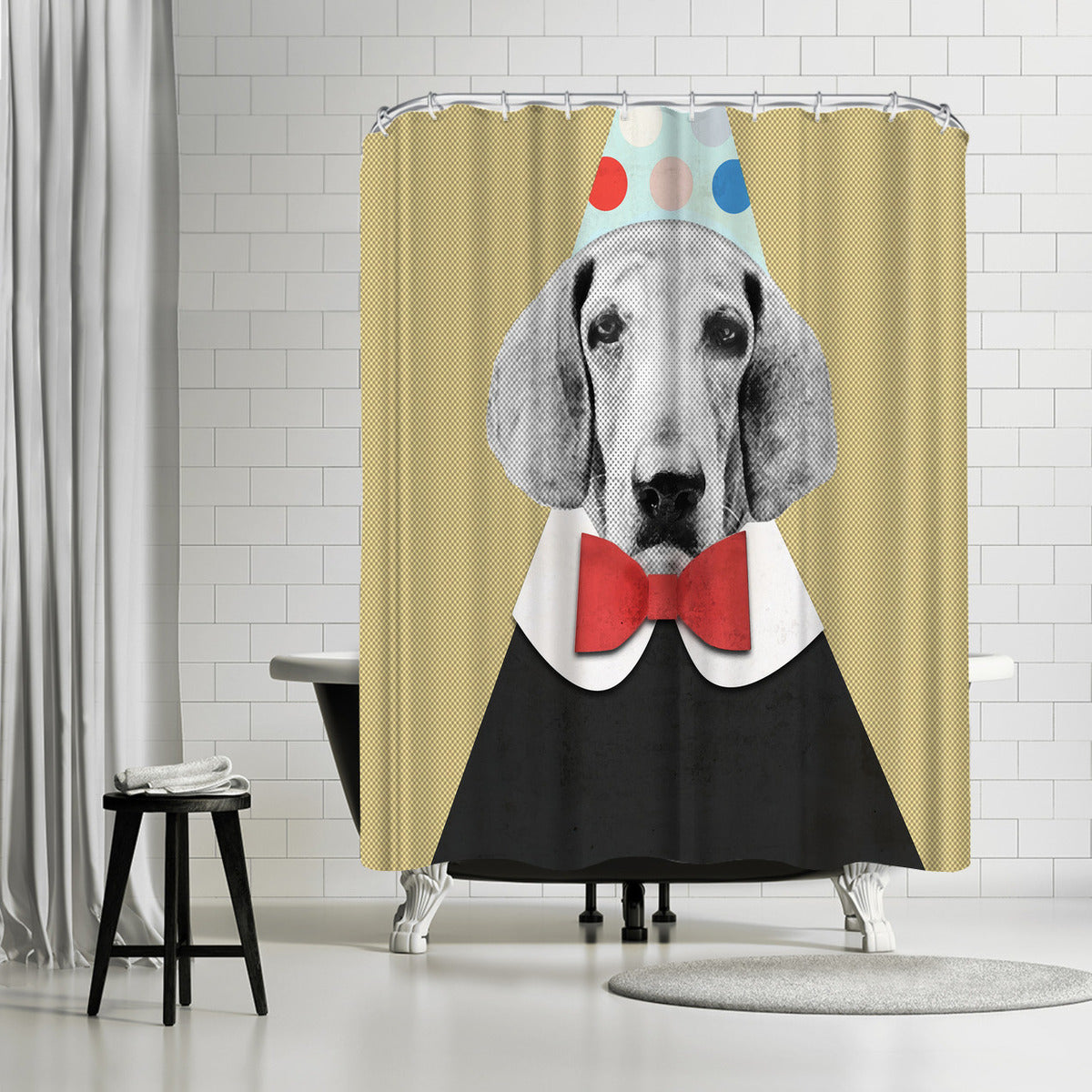 Doggy Pooh The Clown by Emanuela Carratoni Shower Curtain - Shower Curtain - Americanflat