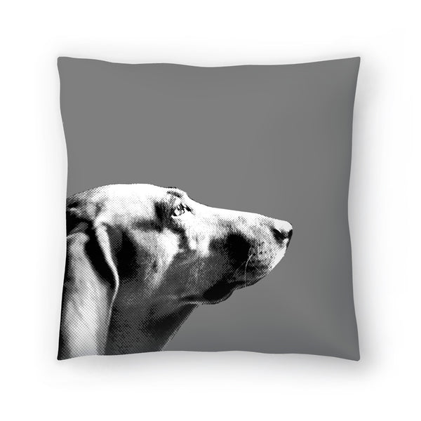 Italian Bloodhound Bw by Emanuela Carratoni Decorative Pillow