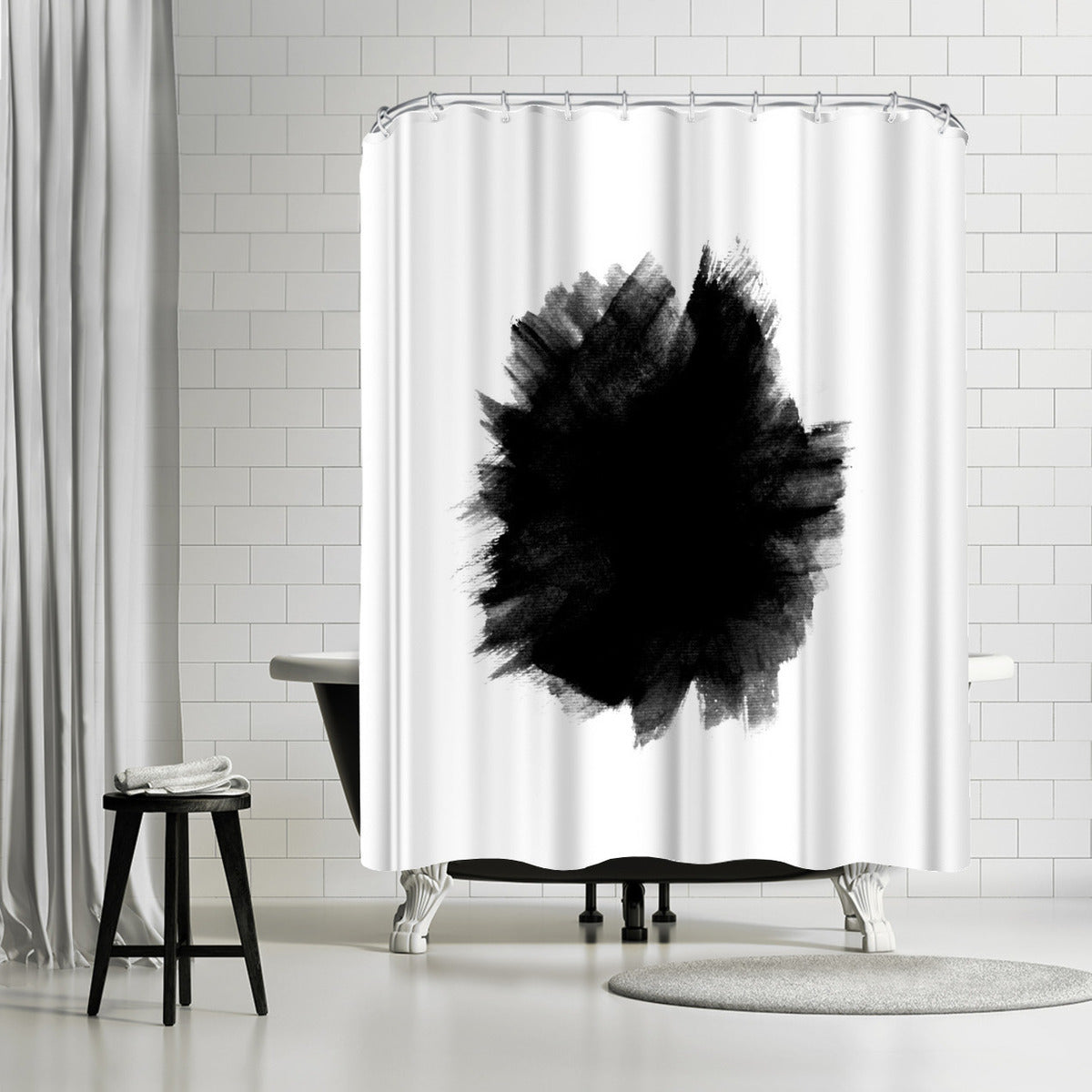 Yin by Emanuela Carratoni Shower Curtain -  - Americanflat