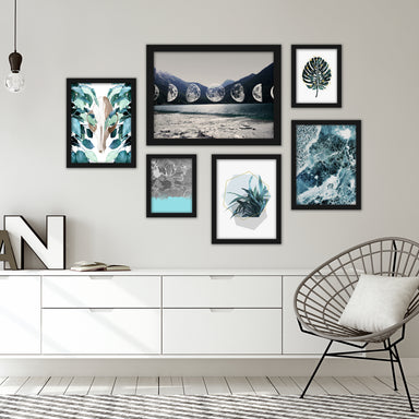 Contemporary Blue-Grey Framed Art Set - Art Set - Americanflat