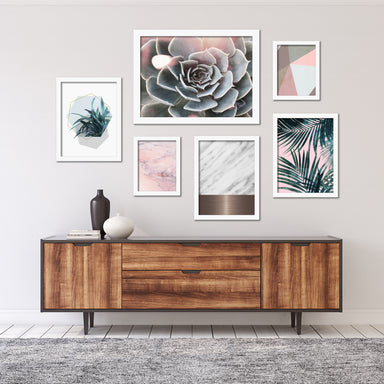Modern Succulent and Palms Framed Art Set - Framed Print - Americanflat
