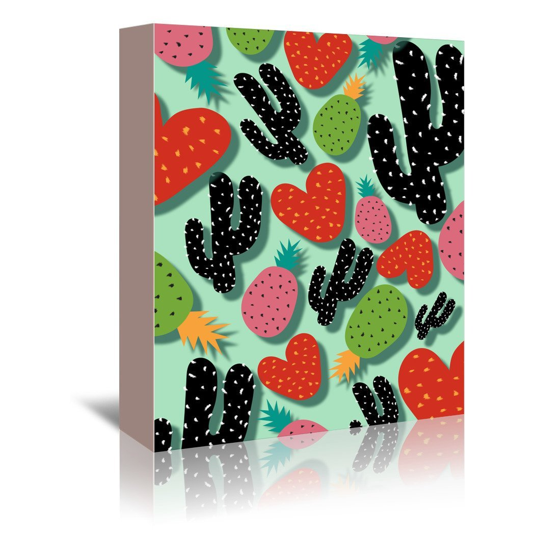 Cactus Love & Pineapples by Susana Paz Wrapped Canvas - Wrapped Canvas - Americanflat
