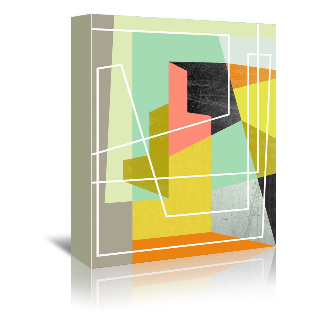 Color block Ii by Susana Paz Wrapped Canvas - Wrapped Canvas - Americanflat