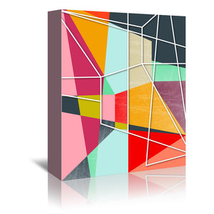 Color block V by Susana Paz Wrapped Canvas