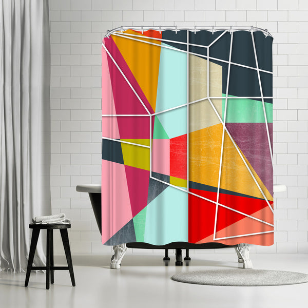 Colorblock V by Susana Paz Shower Curtain