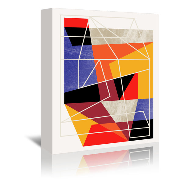 Color block Vii by Susana Paz Wrapped Canvas