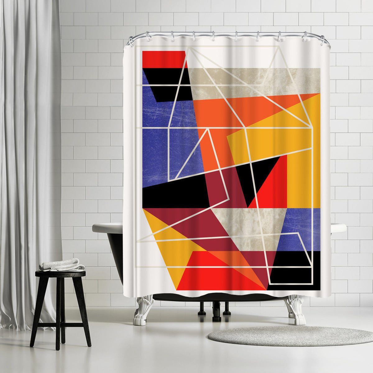 Colorblock Vii by Susana Paz Shower Curtain - Shower Curtain - Americanflat