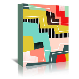 Color block by Susana Paz Wrapped Canvas