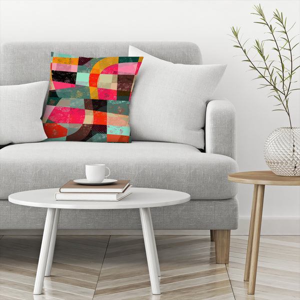 Fragments Xi by Susana Paz Decorative Pillow