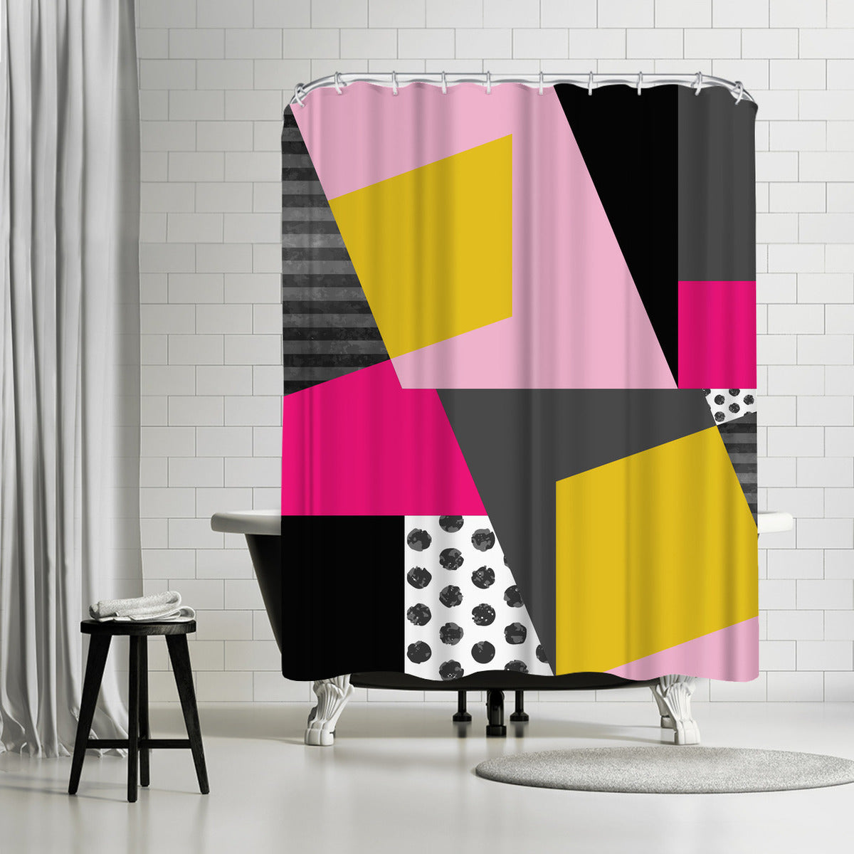 Geometric 13 by Susana Paz Shower Curtain -  - Americanflat