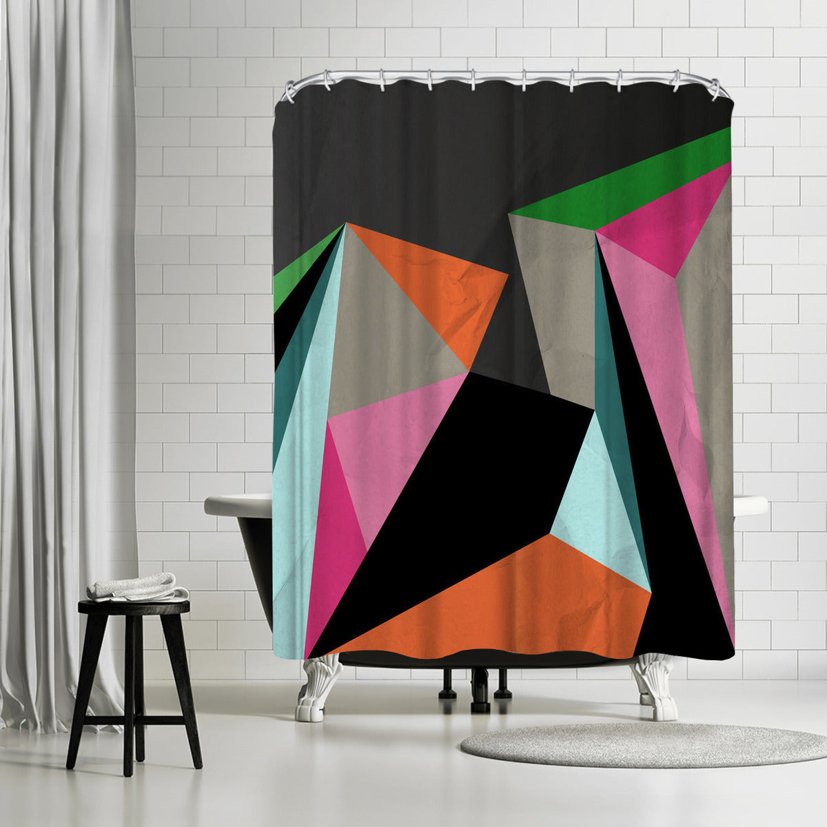 Geometric 21 by Susana Paz Shower Curtain -  - Americanflat