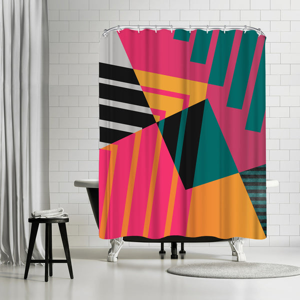 Geometric 23 by Susana Paz Shower Curtain