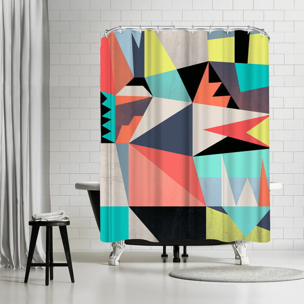 Graphic 3 by Susana Paz Shower Curtain