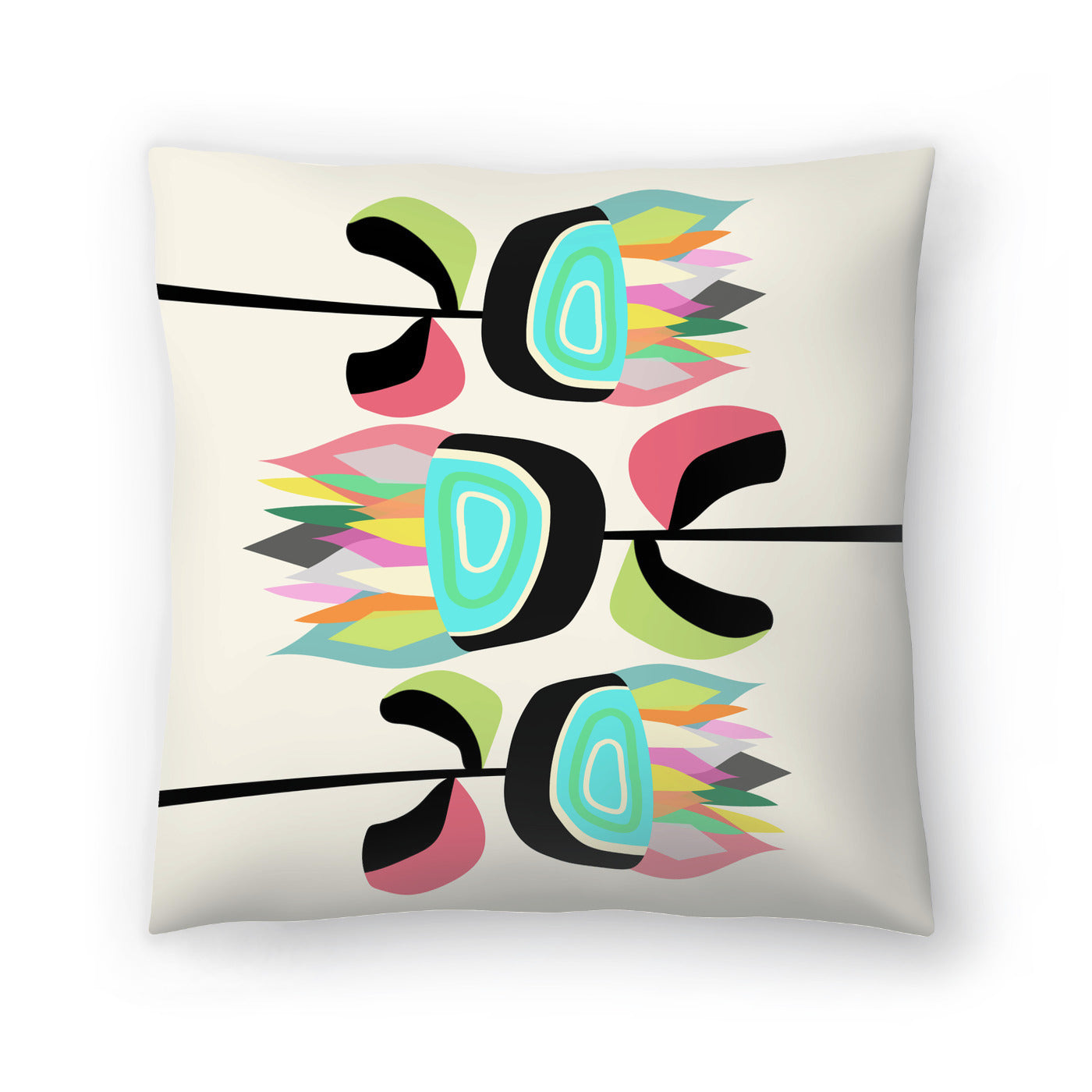 Joyful Plants by Susana Paz Decorative Pillow - Decorative Pillow - Americanflat