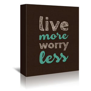 More Or Less by Susana Paz Wrapped Canvas