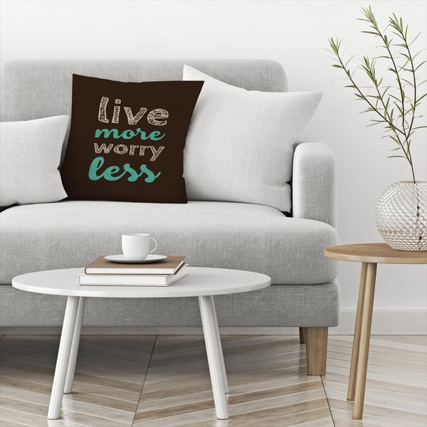 More Or Less by Susana Paz Decorative Pillow