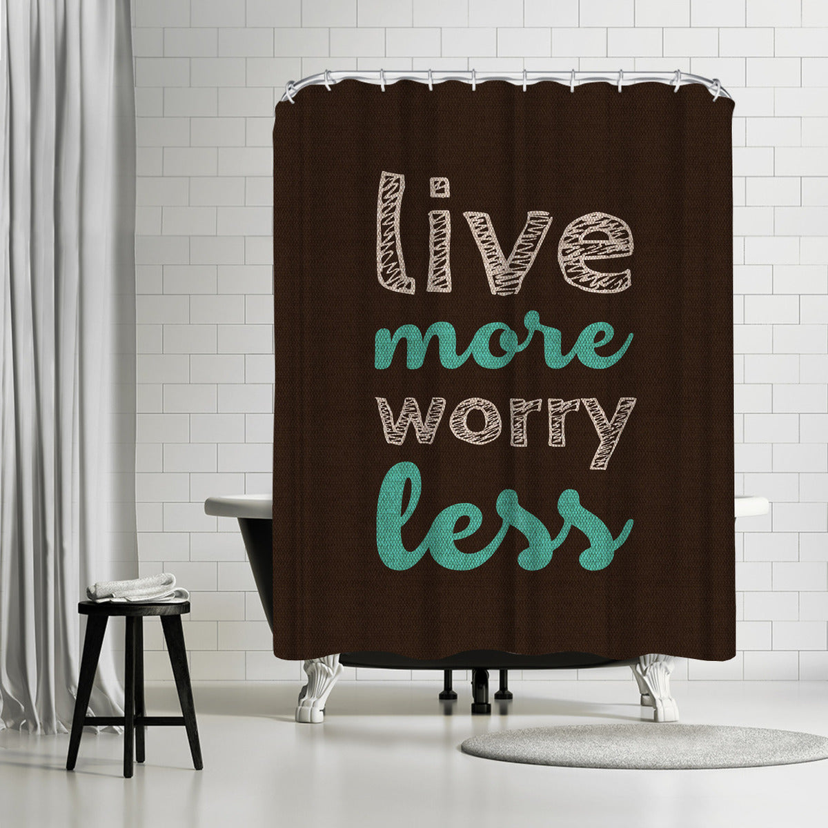 More Or Less by Susana Paz Shower Curtain - Shower Curtain - Americanflat