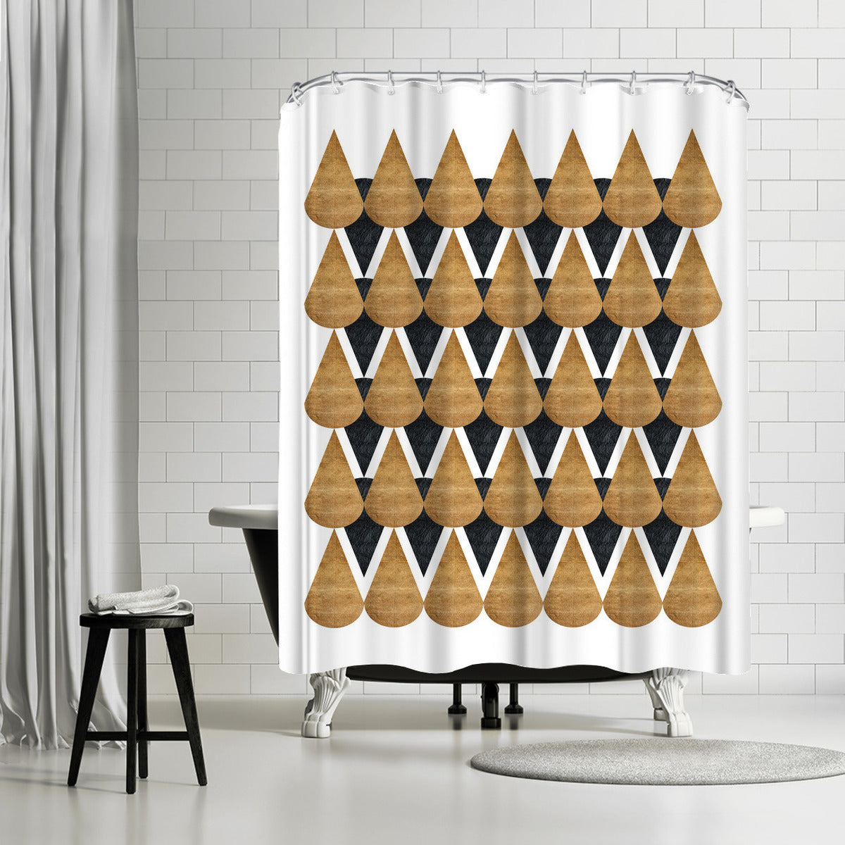 Rain Drops by Susana Paz Shower Curtain -  - Americanflat