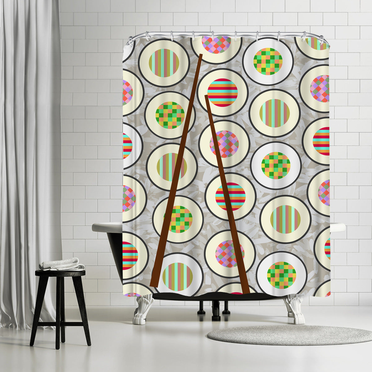 Sushi Time by Susana Paz Shower Curtain