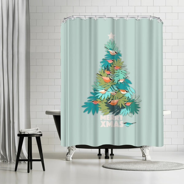 Tropical Xmas by Susana Paz Shower Curtain