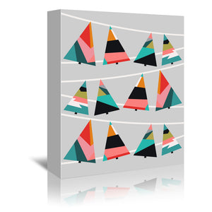Xmas Trees by Susana Paz Wrapped Canvas