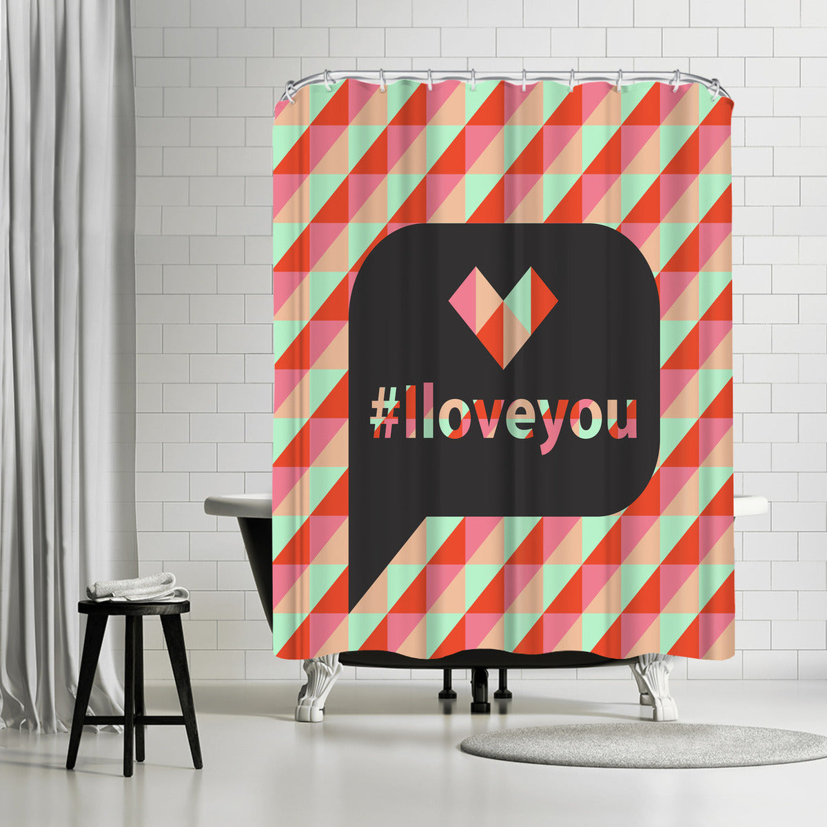 I Love You by Susana Paz Shower Curtain - Shower Curtain - Americanflat