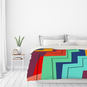 Colorblock Iv by Susana Paz Duvet Cover