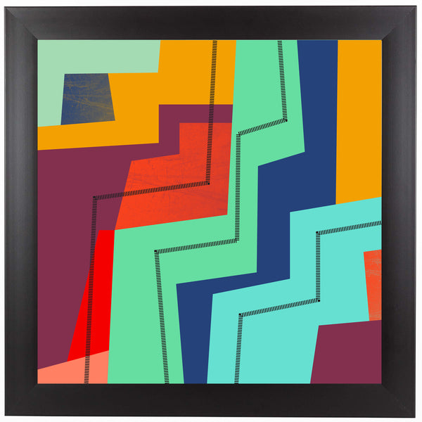 Color Block Iv by Susana Paz Framed Print