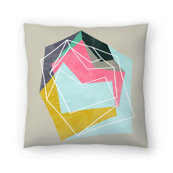 Fill & Stroke by Susana Paz Decorative Pillow