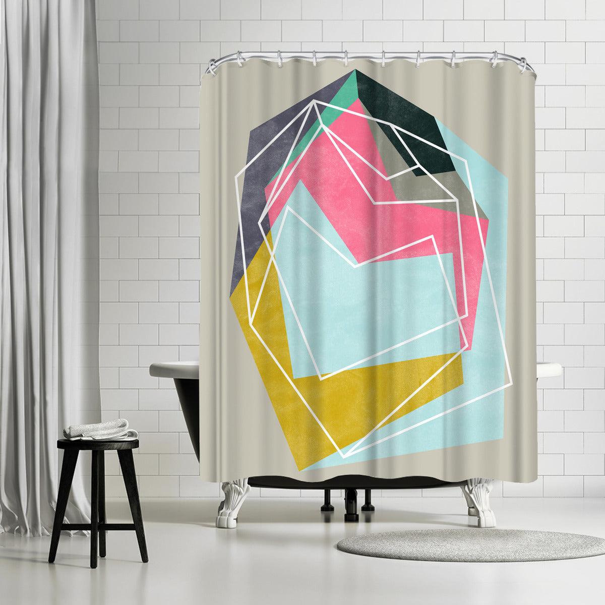 Fill & Stroke by Susana Paz Shower Curtain -  - Americanflat