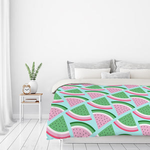 Fresh Watermelon by Susana Paz Duvet Cover