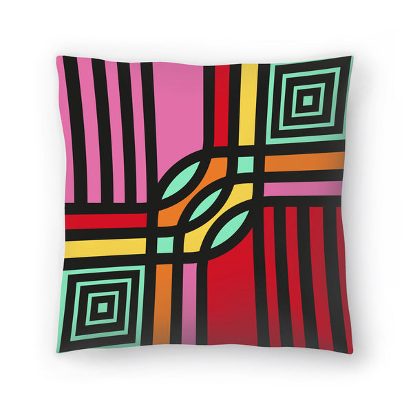 Geometric 12 by Susana Paz Decorative Pillow