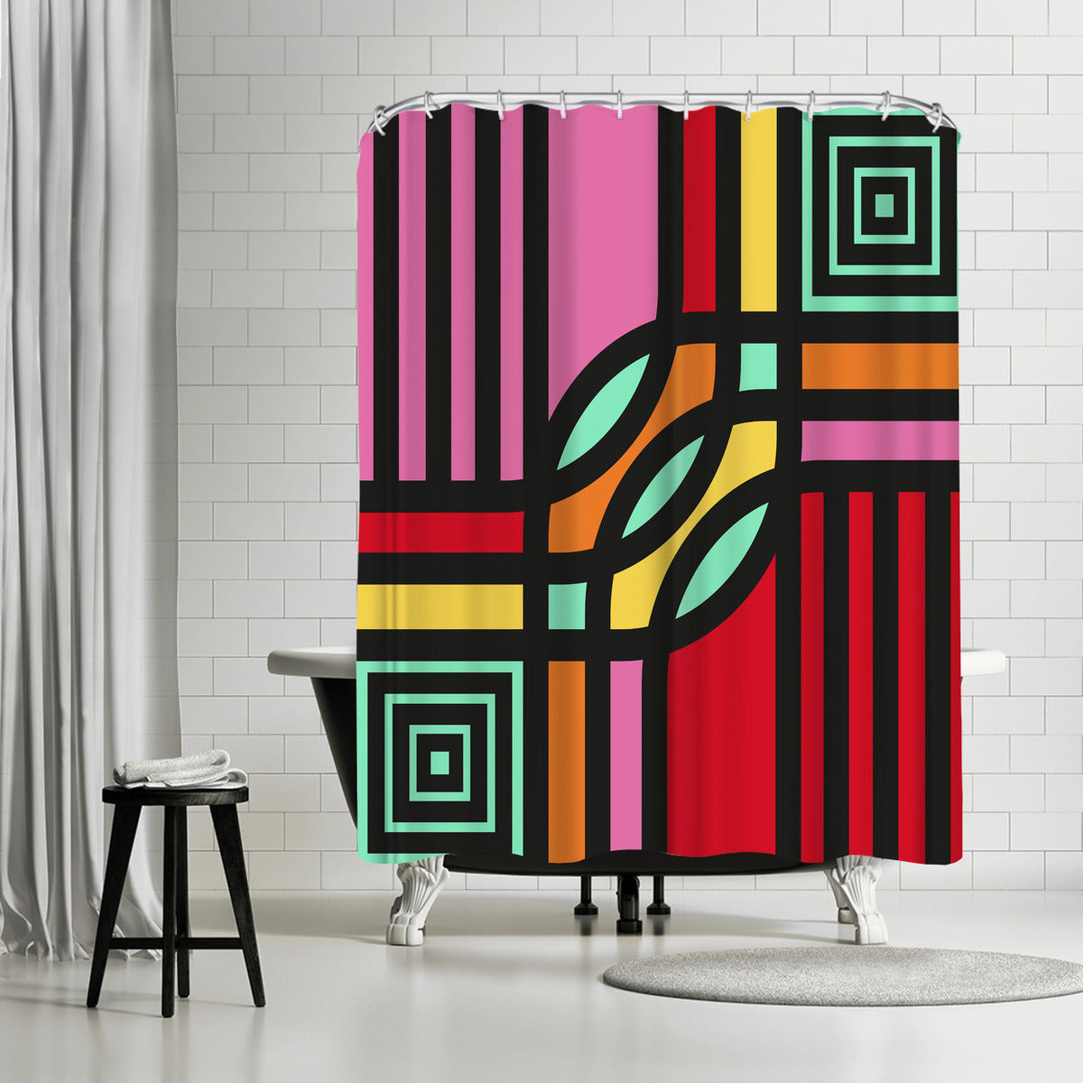 Geometric 12 by Susana Paz Shower Curtain - Shower Curtain - Americanflat