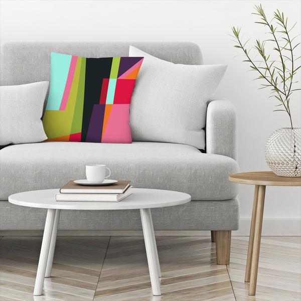 Geometric 28 by Susana Paz Decorative Pillow