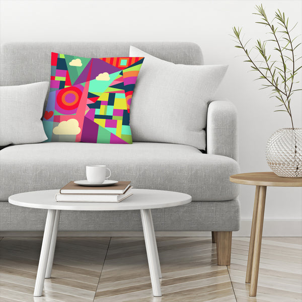 Geometric 7 by Susana Paz Decorative Pillow