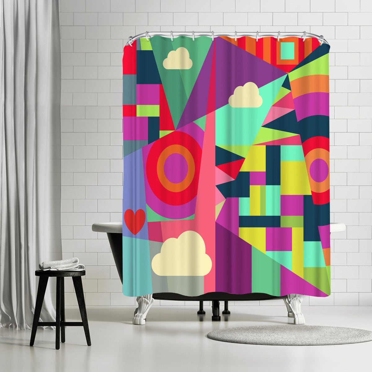 Geometric 7 by Susana Paz Shower Curtain -  - Americanflat