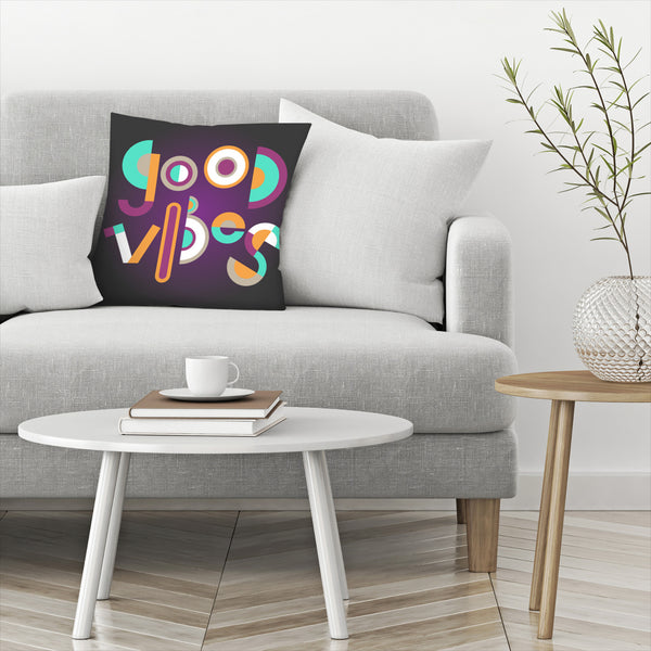 Good Vibes by Susana Paz Decorative Pillow