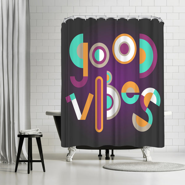 Good Vibes by Susana Paz Shower Curtain