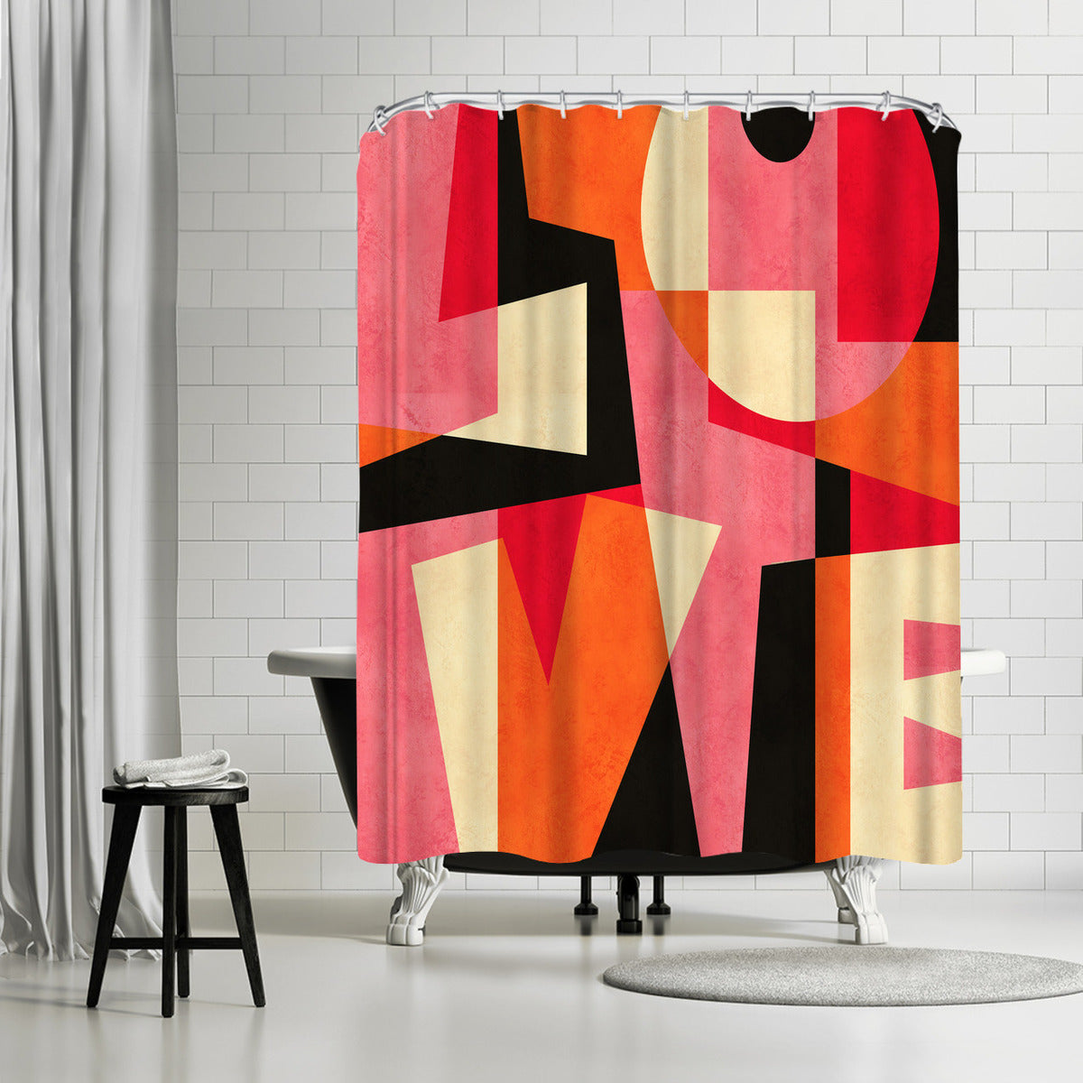 L O V E by Susana Paz Shower Curtain - Shower Curtain - Americanflat