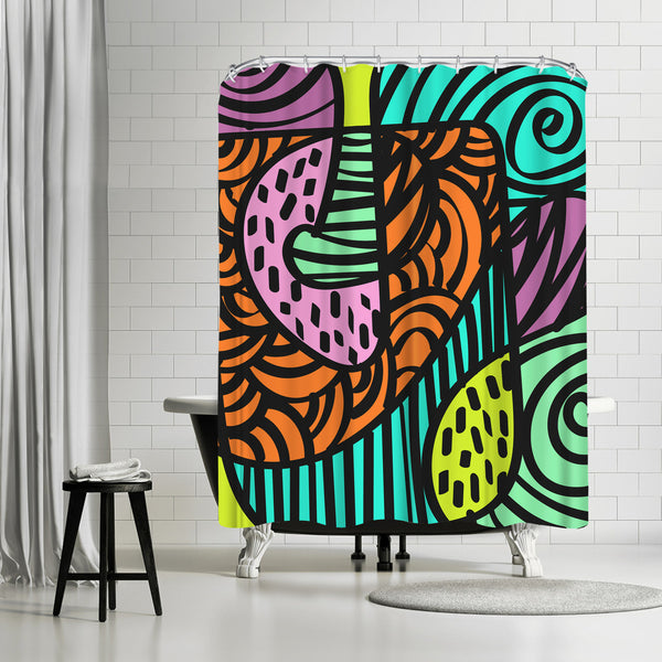 Naive by Susana Paz Shower Curtain
