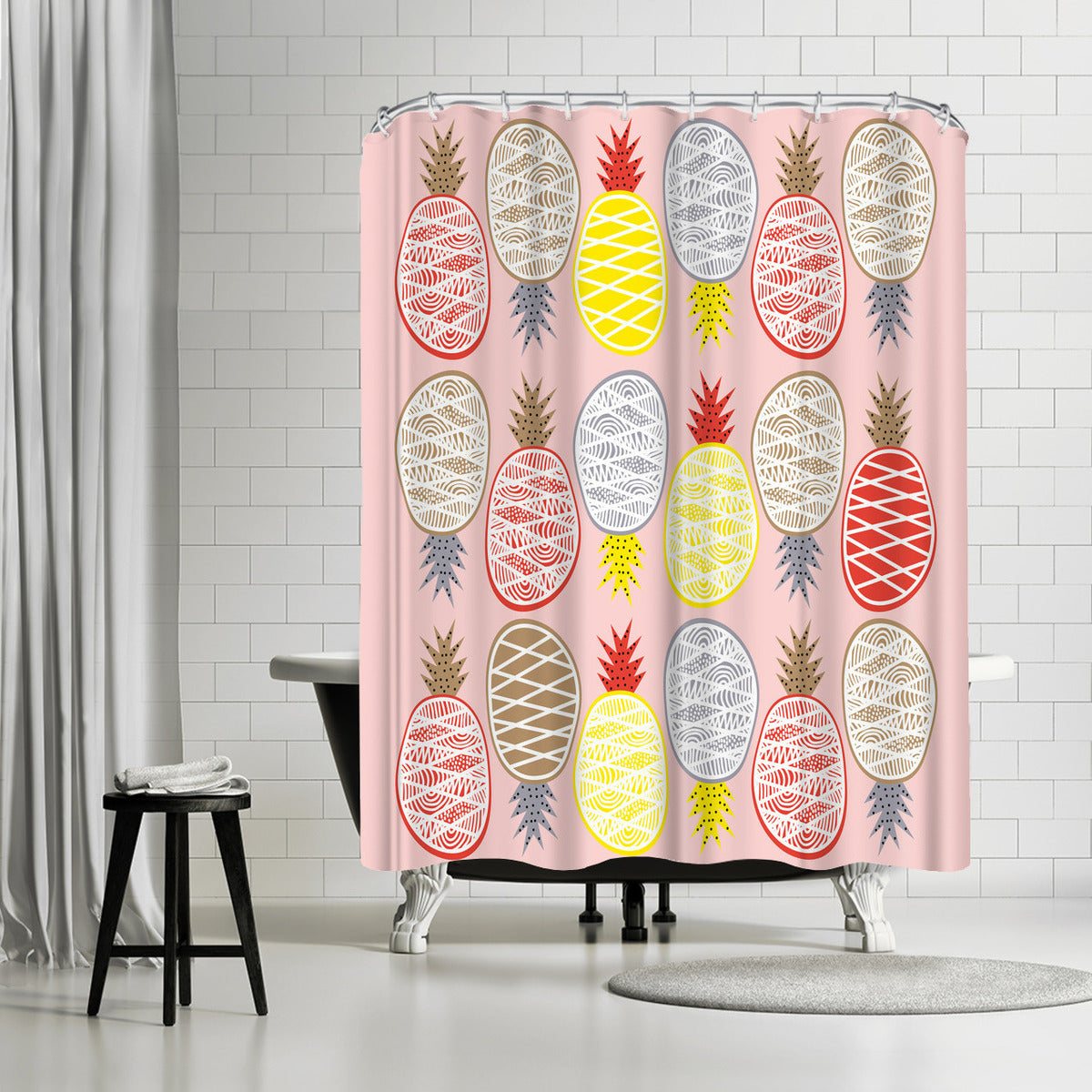 Pineapple I by Susana Paz Shower Curtain - Shower Curtain - Americanflat