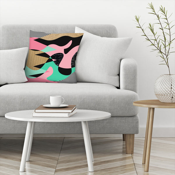 Shapes Textures &Stripes by Susana Paz Decorative Pillow
