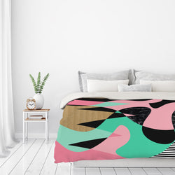 Shapes Textures & Stripes by Susana Paz Duvet Cover
