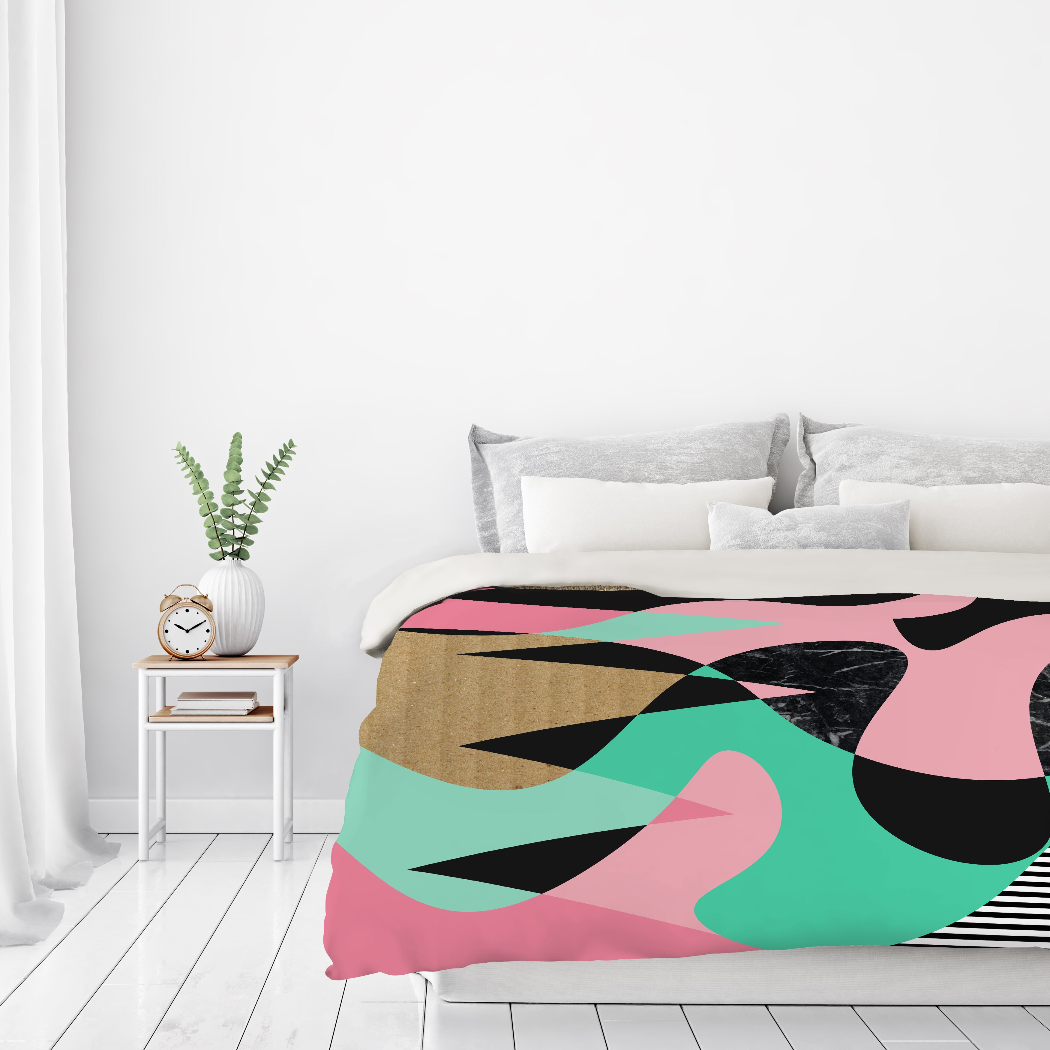 Shapes Textures & Stripes by Susana Paz Duvet Cover - Duvet Covers - Americanflat