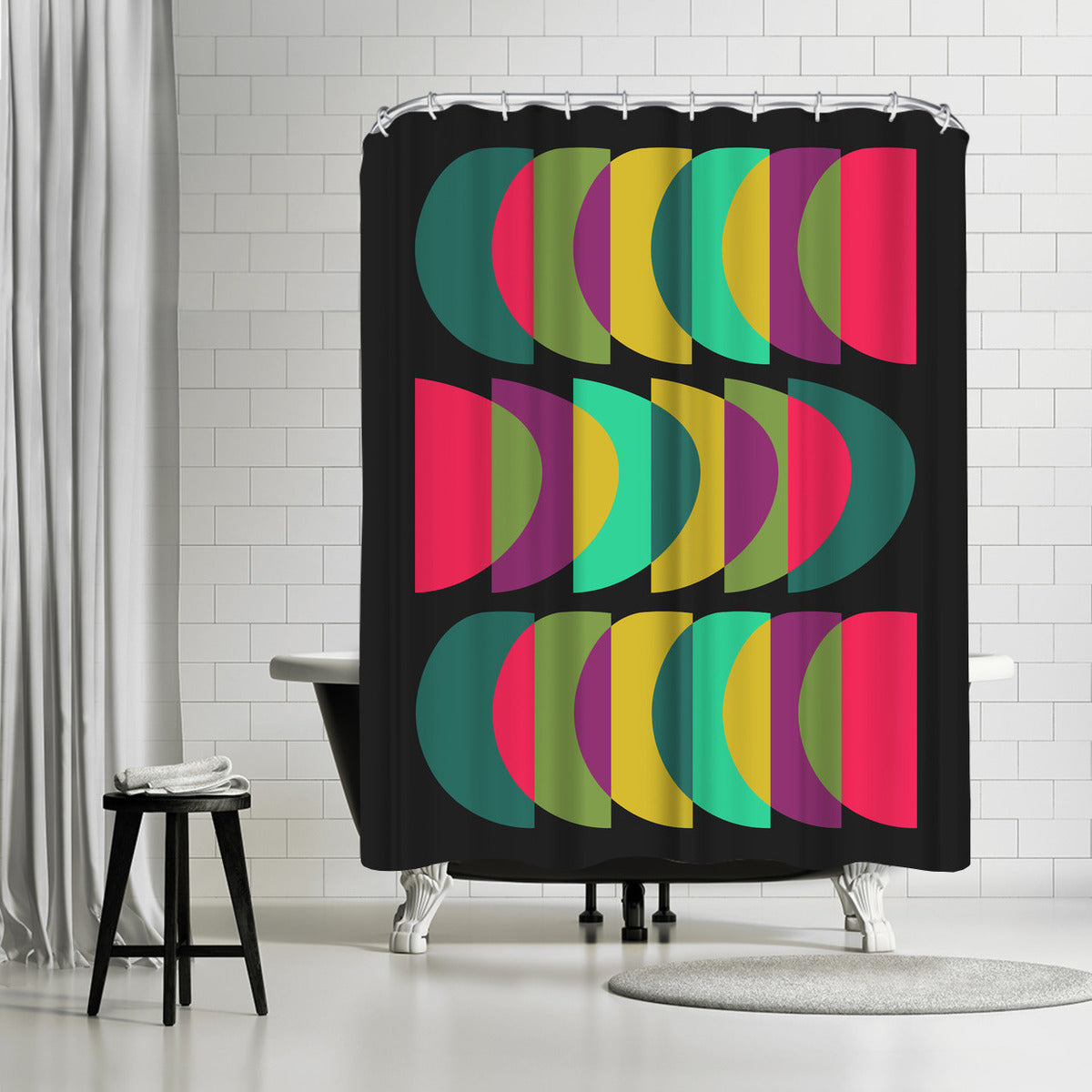 What Color Is The Moon by Susana Paz Shower Curtain -  - Americanflat