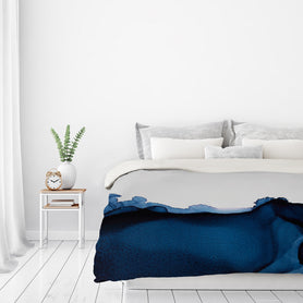 Nothing But Navy by Emma Thomas Duvet Cover