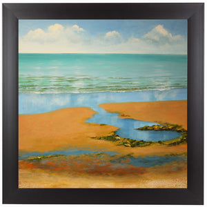 Calm Beach by Sandra Francis Framed Print