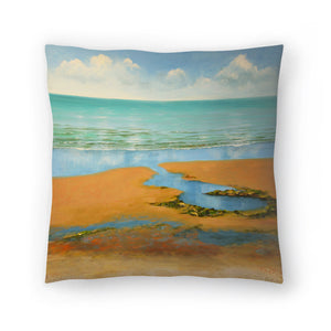 Calm Beach by Sandra Francis Decorative Pillow