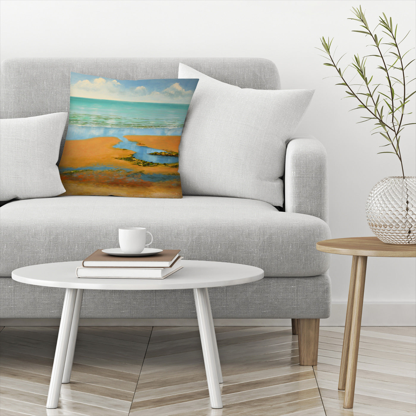 Calm Beach by Sandra Francis Decorative Pillow - Decorative Pillow - Americanflat